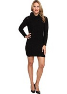 Jones New York L/S Cowl Neck Cable Sweater Dress