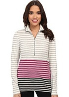 Jones New York L/S Half Zipper Front Stretch Pullover