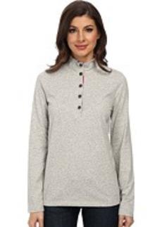 Jones New York L/S Mock Neck Solid Pullover