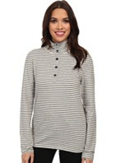 Jones New York L/S Mock Neck Striped Pullover