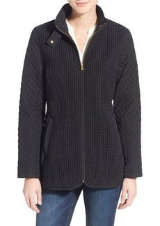 Jones New York Mix Quilt Stand Collar Jacket