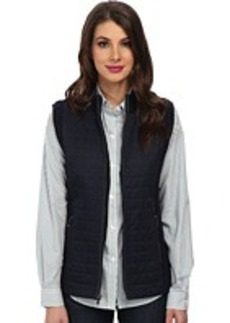 Jones New York Mock Neck Zipper Front Quilted Vest