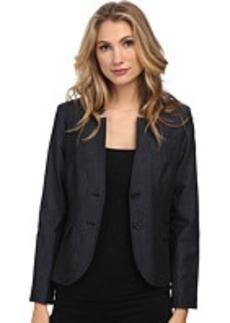 Jones New York Olivia Flat Collar Blazer