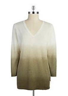 JONES NEW YORK Ombre Hi-Lo Sweater