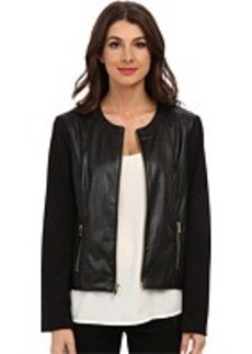 Jones New York Perforated Leather Jacket