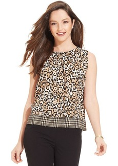 Jones New York Petite Animal-Print Sleeveless Top