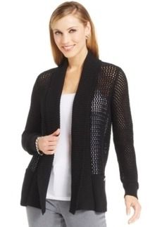 Jones New York Petite Open-Front Knit Cardigan