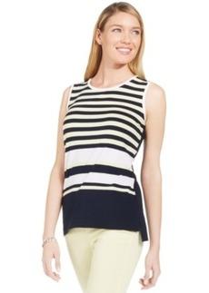 Jones New York Petite Striped Sleeveless Tank Top
