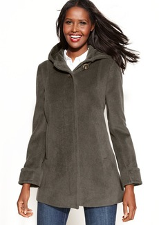 Jones New York Petite Wool-Angora-Blend Hooded Coat