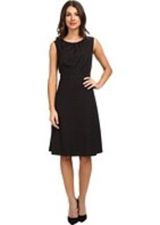 Jones New York Pinstripe Fit and Flare Dress