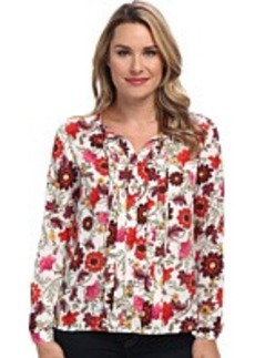 Jones New York Pleat Front Blouse
