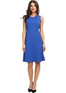 Jones New York Pleat Neck Fit and Flare