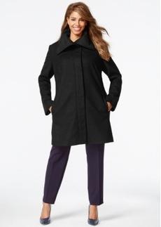 Jones New York Plus Size Clean Front Walker Coat