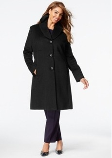 Jones New York Plus Size Empire-Waist Walker Coat