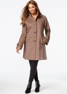 Jones New York Plus Size Heathered Walker Coat