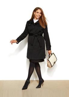 Jones New York Plus Size Herringbone Walker Coat