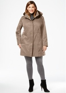 Jones New York Plus Size Hooded Turn-Lock Coat