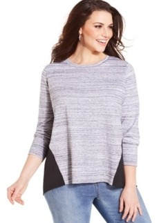 Jones New York Plus Size Mixed-Media Sweater