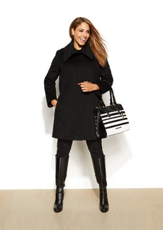 Jones New York Plus Size Shawl-Collar Walker Coat