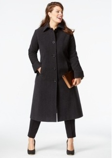 Jones New York Plus Size Wool Maxi Coat