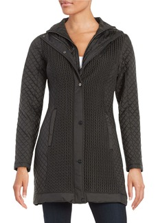 JONES NEW YORK Quilted Zip-Front Jacket