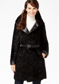 Jones New York Reversible Faux-Fur Puffer Coat