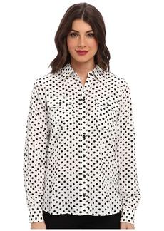 Jones New York Roll Sleeve Safari Style Shirt