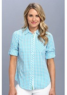 Jones New York Roll Sleeve Shirt w/ Contrast Trim