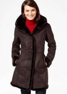 Jones New York Shawl-Collar Faux-Shearling Coat