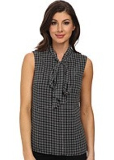 Jones New York Shell Blouse with Tie Front