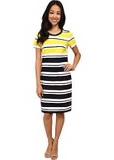 Jones New York Short Sleeve Crew Neck Dress