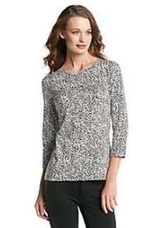 Jones New York Signature® Animal Print Knit Top