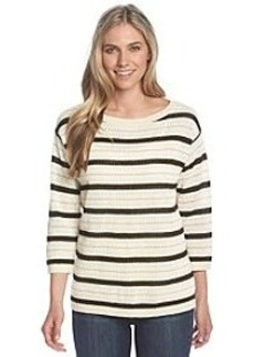 Jones New York Signature® Boat Neck Stripe Sweater