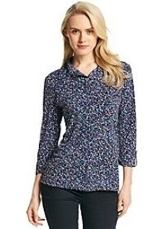 Jones New York Signature® Button Front Floral Top