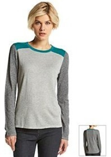 Jones New York Signature® Crew Neck Color Block Knit