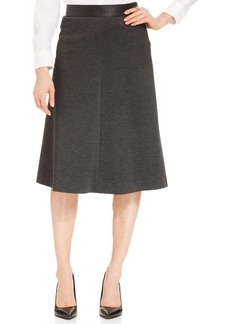 Jones New York Signature Faux-Leather-Trim Skirt