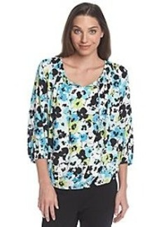 Jones New York Signature® Floral Peasant Top