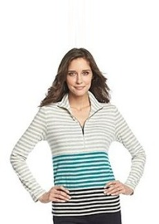 Jones New York Signature® Half-Zip Mockneck Slub Knit Top