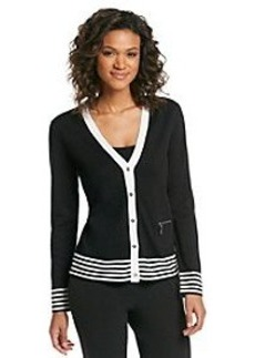 Jones New York Signature® Hem Stripe Cardigan