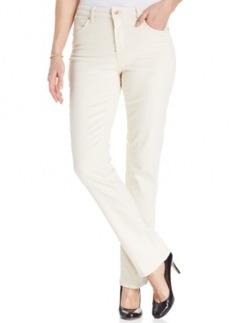 Jones New York Signature Lexington Straight-Leg Jeans, Natural Wash