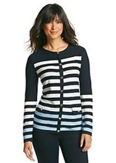 Jones New York Signature® Long Sleeve Front Button Ombre Cardigan