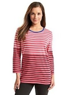 Jones New York Signature® Multi Stripe Button Shoulder Top