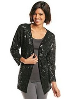 Jones New York Signature® Open Sequined Cardigan