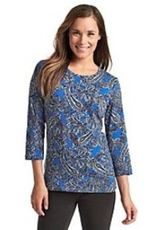Jones New York Signature® Paisley Print Knit Top