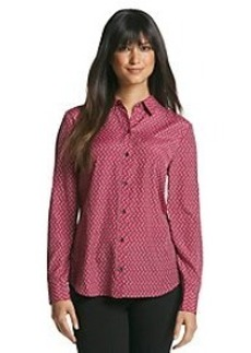 Jones New York Signature® Penguin Print Collared Blouse