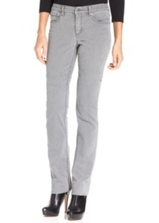 Jones New York Signature Petite Lexington Straight-Leg Jeans, Pearl Grey Wash