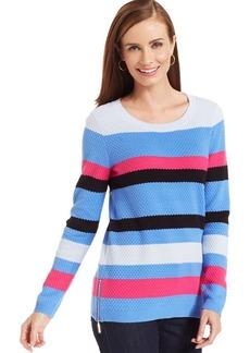 Jones New York Signature Petite Side Zip-Slit Tunic Sweater