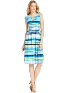 Jones New York Sleeveless Printed A-Line Dress