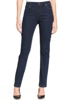 Jones New York Signature Petite Straight-Leg Lexington Jeans, Indigo Wash