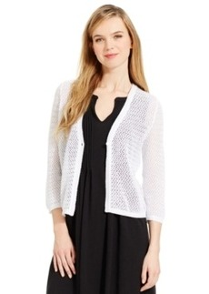 Jones New York Signature Petites Petite Chevron-Stitch Cardigan